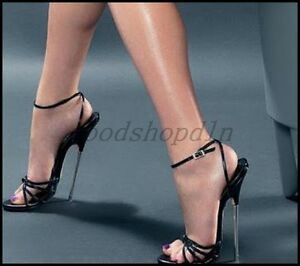 4d6697ae920 Sexy Womens Open Toe 18CM Metal High Heel Shoes Ankle Strap Sandals ...