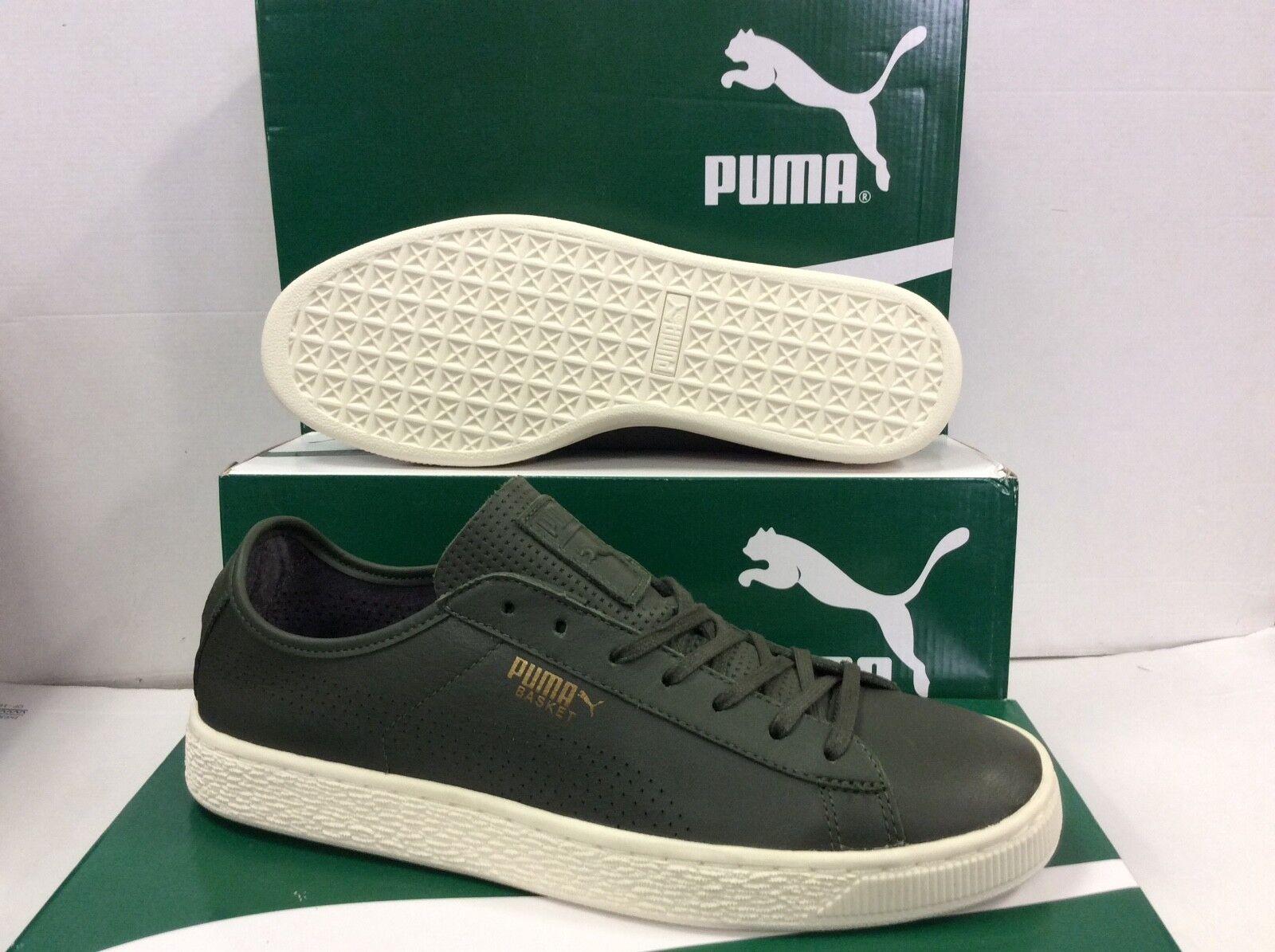 Puma Cesta Clásico de Cuero Suave Para Hombre Zapatillas Zapatillas, Talla