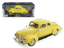 1/18 MOTORMAX 1940 Ford Deluxe Coupe Diecast Model Car Yellow 73108