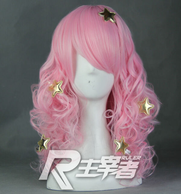 Show by Rock Moa Plasmagica Without Stars Anime Cosplay Costume Wig  + CAP