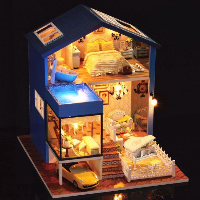 Fai DA TE Handcraft progetto Casa di Bambole in Legno la mia piccola Villa a Seattle
