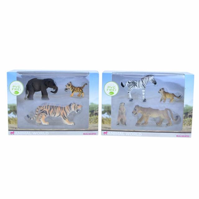 "Set Afrikatiere /""Hohe Qualität 9002 Original Bullyland Elefanten Familie 3 tlg"
