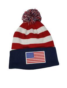 6d6bdbfb9a8 Usa Beanie Logo Flag Gorro Gorra Pom Lane Knit Hat Cap Hat Soccer ...