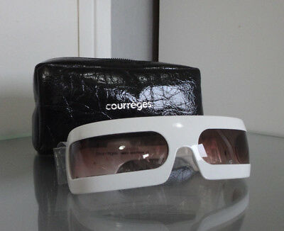 COURREGES LUNETTES DE SOLEIL SUNGLASSES SKI MASK MASQUE FUTURISTIC BLANC WHITE | eBay