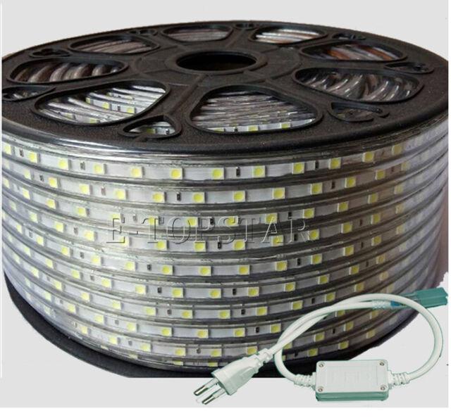 5/10/15/20M AC110V/220V Flexible Silicon Waterproof 5050 SMD 60Led/m Strip Light