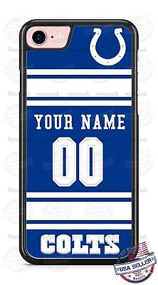 wholesale dealer b1897 ca0f3 INDIANAPOLIS COLTS NFL FOOTBALL PHONE CASE WITH NAME& # FOR iPHONE SAMSUNG  LGetc   eBay