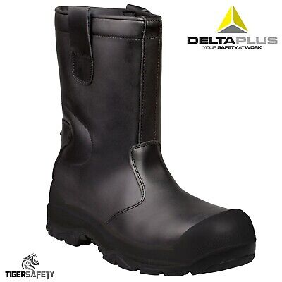 bd83e2525da Delta Plus S3 CI SRC Samara Black Thermal Fur Lined Bump Cap Safety Rigger  Boots | eBay