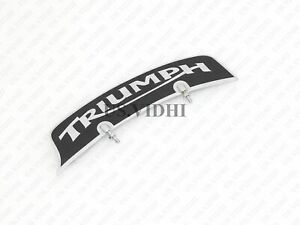 New Fits Triumph Front Mudguard Number Plate Brass Chrome
