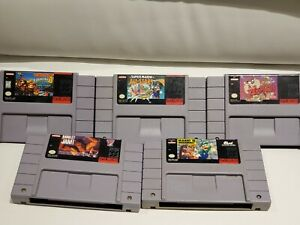 Lot-of-5-SNES-Games-Super-Nintendo-Mario-All-Stars-Donkey-Kong-Country-3