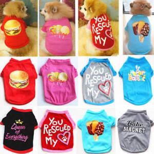 Dog-Cat-T-Shirt-Clothes-Vest-Tee-Cotton-Puppy-Pet-Apparel-Costume-Coat-Jacket