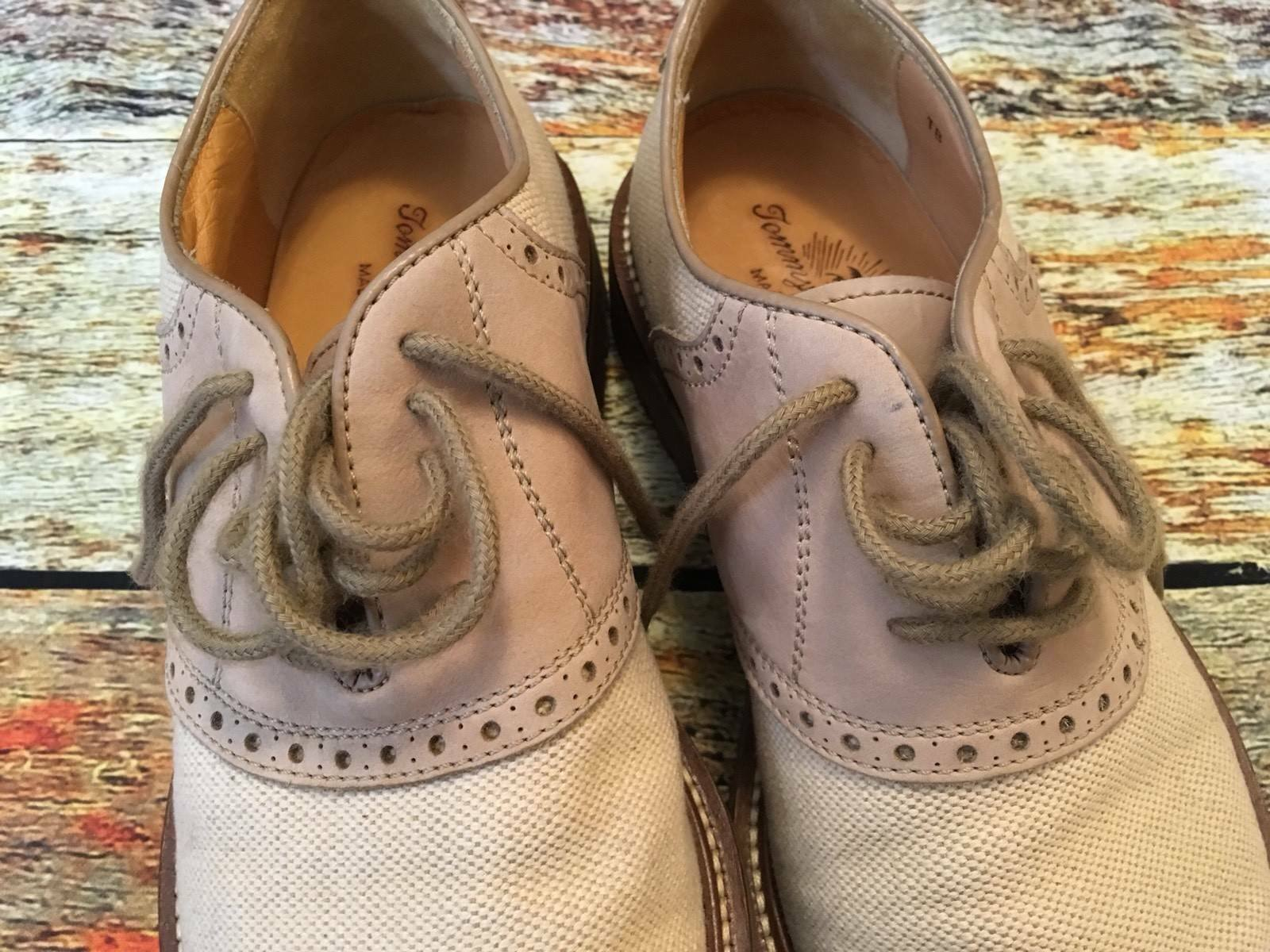 Tommy Bahama 038 con cordones en zapatos informales Oxford hechas en cordones Italia de hombre M 598342