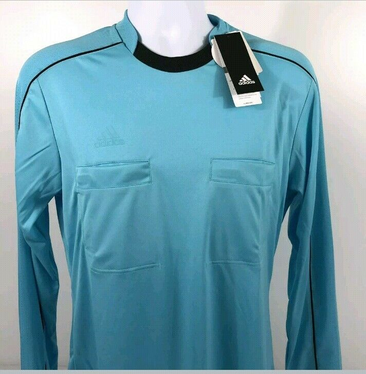 4bb772cc5 ADIDAS Mens Referee 16 Climacool L S Jersey Soccer Football Top Size M NEW