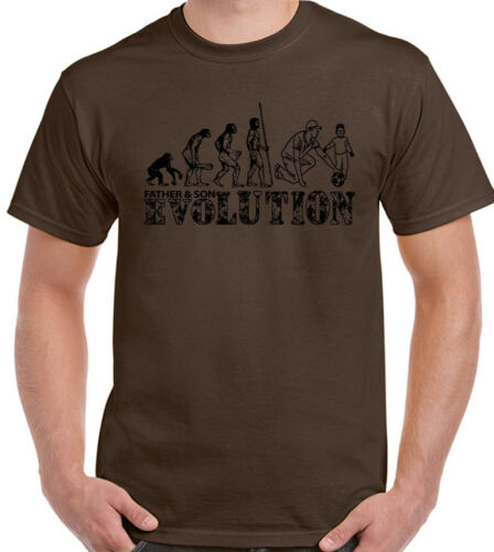 Father And Son Mens Funny T-Shirt Father/'s Day Dad Daddy Football Evolution