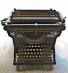 Antique-1920-039-s-Underwood-No-3-Standard-Vintage-Typewriter-12-Inch