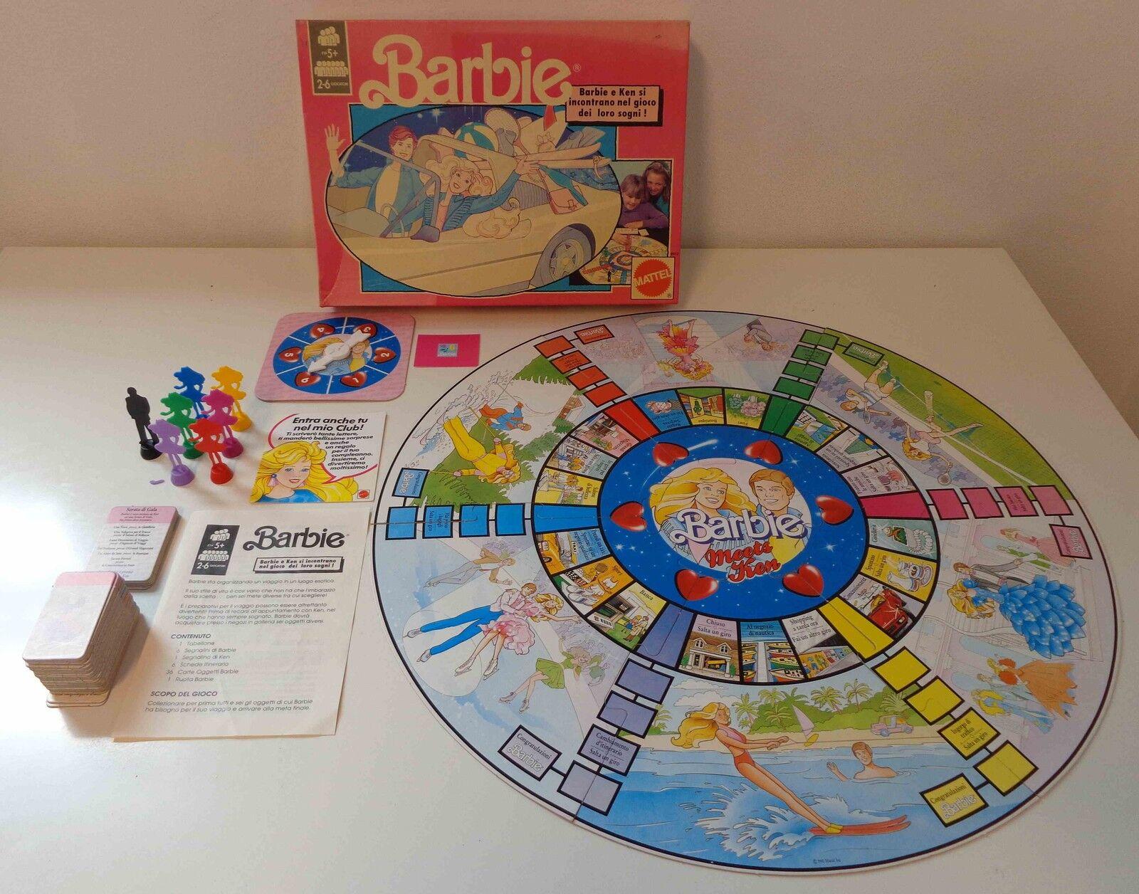 Gioco in Scatola Vintage Board Game Italiano Italiano Italiano 1990 Mattel BARBIE Ken ITA Bambola 398637