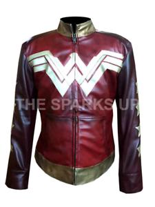 bc05522c9e13 Image is loading Wonder-Woman-Gal-Gadot-Stylish-Motorcycle-Leather-Jacket-