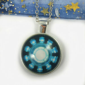 Marvel iron man arc reactor necklace ebay image is loading marvel iron man arc reactor necklace aloadofball Image collections