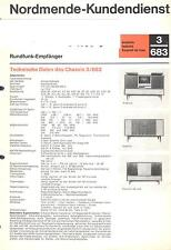 Nordmende Service Manual für Arabella - Exquisit - Isabella 3.683