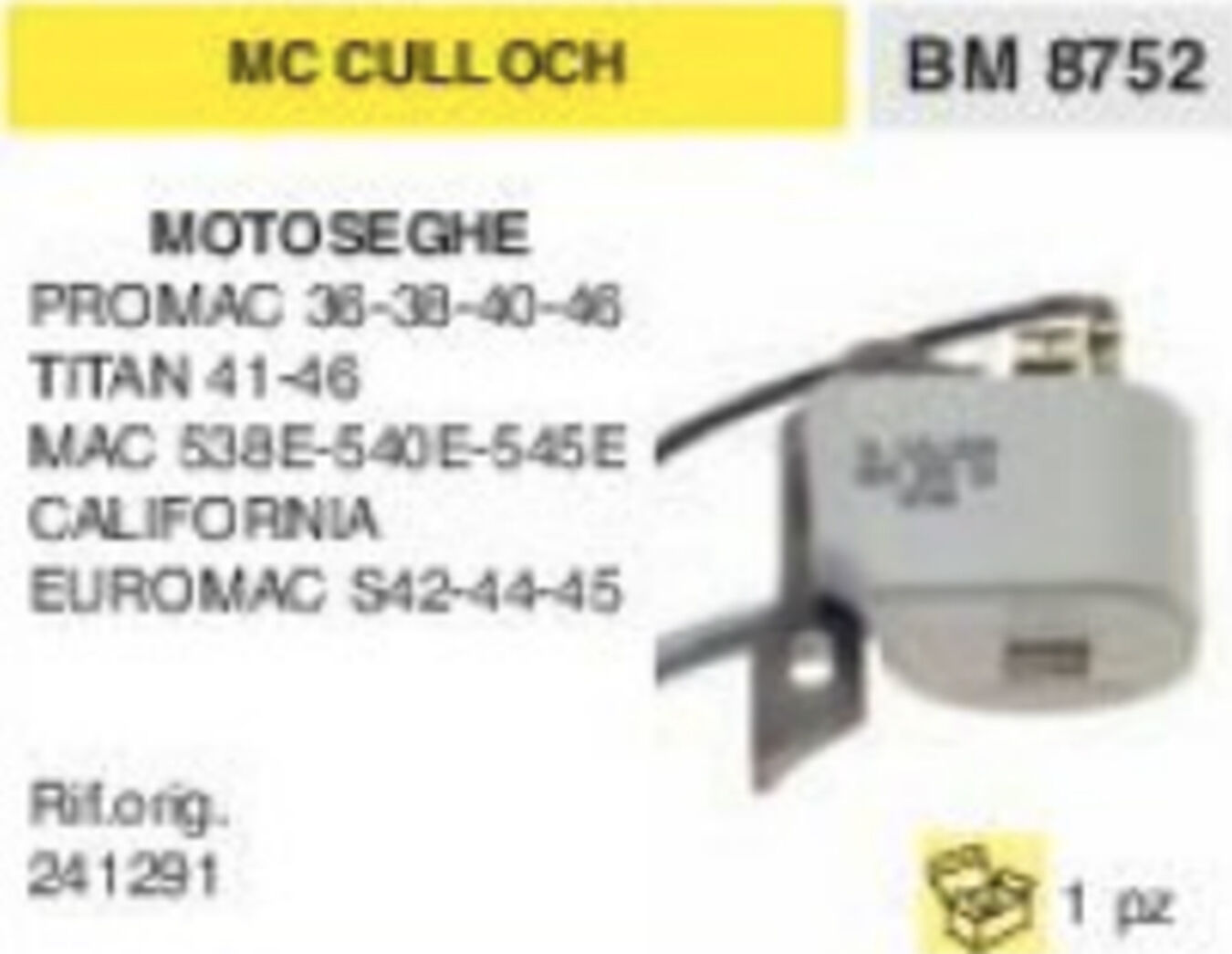 241291 BOBINA MOTOSEGA McCULLOCH EUROMAC S42 S44 S45 MAC 583E 545E