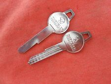 2 DODGE CHRYSLER PLYMOUTH MOPAR TRUNK KEY BLANKS 59 60 61 62 63 64 65