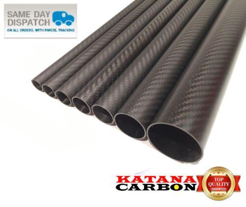 Matt 1 x OD 20mm x ID 18mm x Length 500mm 3k Carbon Fiber Tube Roll Wrapped