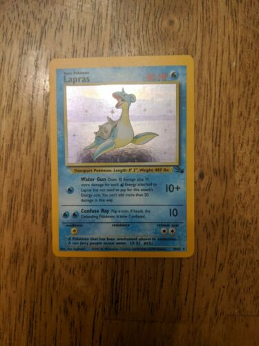 NM Lapras 10//62 Fossil Set Holo Rare Pokemon Card
