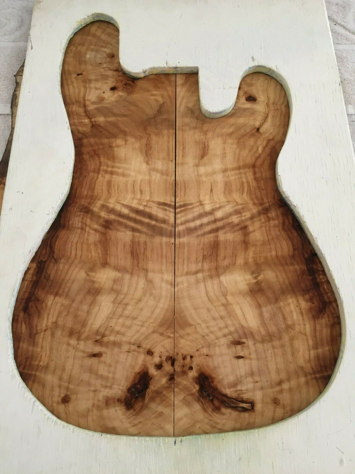 Poplar Burl book match set luthier guitar tone wood .32 x 17 x 23    925-5