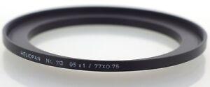 Heliopan-Nr-113-77mm-95mm-Brass-Step-Up-Ring