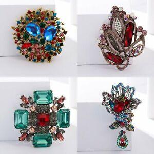 Retro-Rhinestone-Crystal-Pearl-Flower-Wedding-Bridal-Bouquet-Brooch-Pin-Jewelry