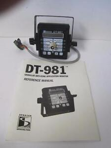 DT-981 GRANULAR ANTI-ICING APPLICATION MONITOR SPRAYER W/ MOUNT MANUAL MIKROTRAK