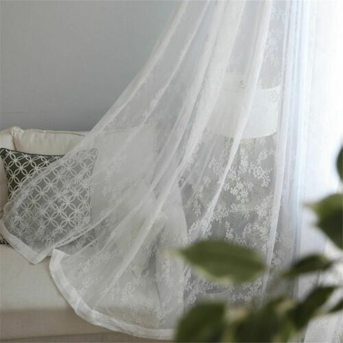 Lace Sheer Curtains Window Treatments Floral Designed Side Installations Curtain