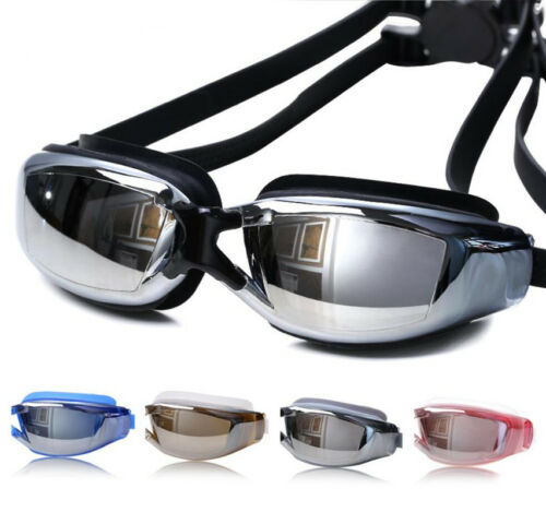 Adult Men Women Waterproof Anti-Fog UV Protection Swim Swimming Goggles Glasses