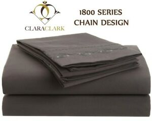 1800-SERIES-DEEP-POCKET-4-PIECE-BED-SHEET-SET-Chain-Design-12-Colors-All-Sizes