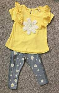 NWT-Jessica-Simpson-Infant-Toddler-Baby-Girl-Outfit-Daisies-18m