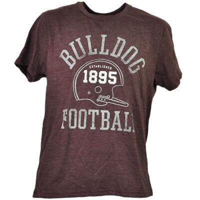 Sport GemäßIgt Ncaa Mississippi Staat Bulldogs Helm Fußball Burgunderrot T-shirt Herren 1895 Fanartikel
