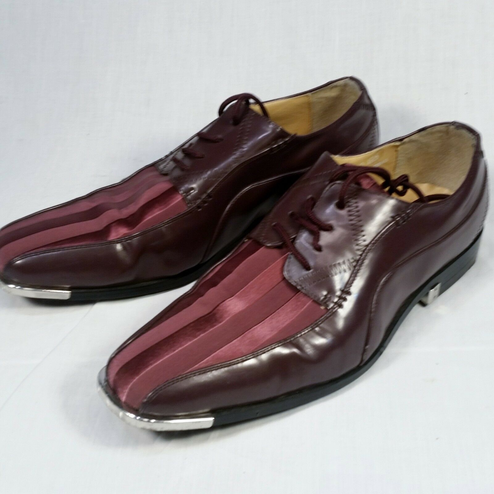 Expressions by RC Purple shoes Mens 11 Plum Strips Metal Tips Rockabilly