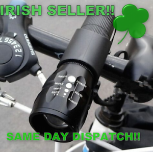 LED-Front-Cycling-Bike-Bicycle-Lights-WITH-BATTERIES-IRISH-SELLER-IRISH-STOCK