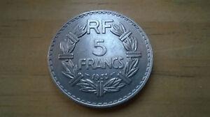5-FRANCS-LAVRILLIER-NICKEL-1933-TRES-TRES-BEL-ETAT