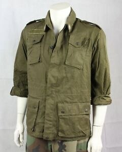 """BRITISH ARMY SHIRT GREEN LONG SLEEVED VINTAGE USED GRADE 1 34/"""" 36/"""" 38/"""" CHEST GB"""