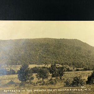 RPPC-HOFFMEISTER-NY-Cottages-in-Mountains-N-Y-Houses-ADIRONDACKS-Real-Photo