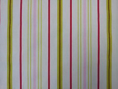 Ashley Wilde Ellacombe Watermelon Stripe Designer Curtain Upholstery Fabric