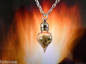 Divination pendulum scrying pendant herbs silver chain wicca pagan image is loading divination pendulum scrying pendant herbs silver chain wicca aloadofball Image collections