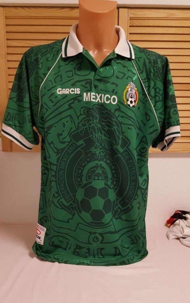 Mexiko Mexico Trikot WM 1998 Garcis Home XL Jersey grün Shirt Camiseta Maglia