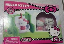 Hello Kitty 2 Flocked Figures Come With Swing Playset