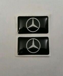 Mercedes-Benz-3D-abovedado-Insignia-Logo-Emblema-Pegatina-Grafico-Calcomania-a-b-c-e-s-clase