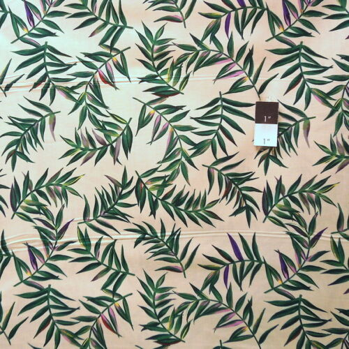 Donna Dewberry PWDD046 Glorious Garden Sweet Fern Tan Fabric By Yd