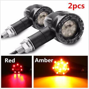 Details about 2x Universal Motorcycle LED Amber Lamp Rear Turn Signal Brake  lights Indicators