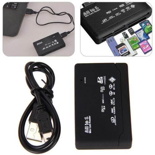 USB 2.0 All in 1 External Memory Card Reader SD SDHC Mini Micro M2 MMC XD CF MS