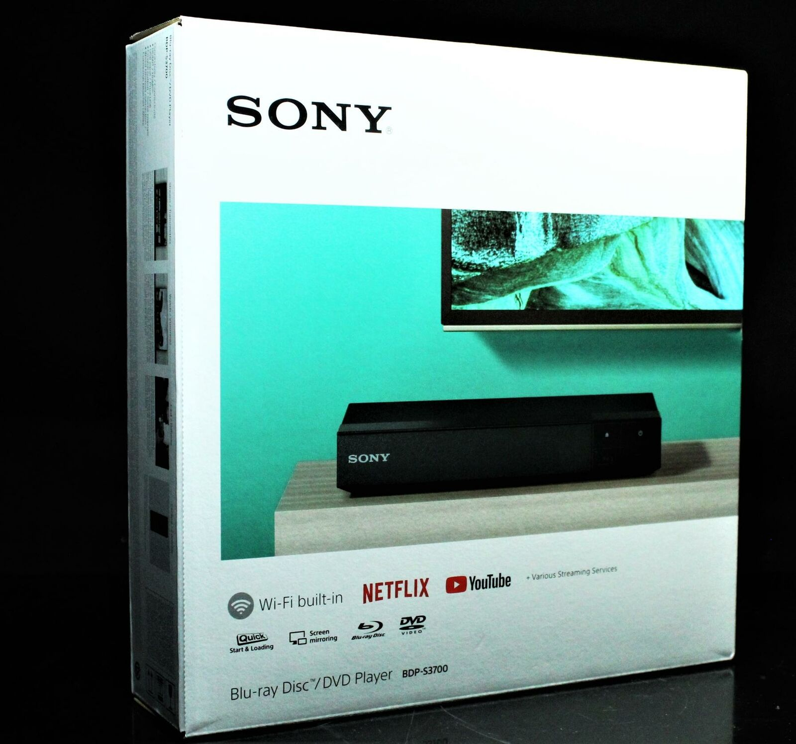 Sony BDP-S3700 Home Theater Streaming Blu-Ray Player with Wi-Fi (Black) home player sony streaming theater with