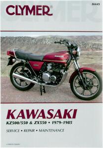 image is loading clymer-repair-manual-for-kawasaki-kz500-kz550-zx550